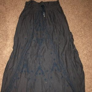 American Eagle Embroidered Maxi Skirt - Size XS